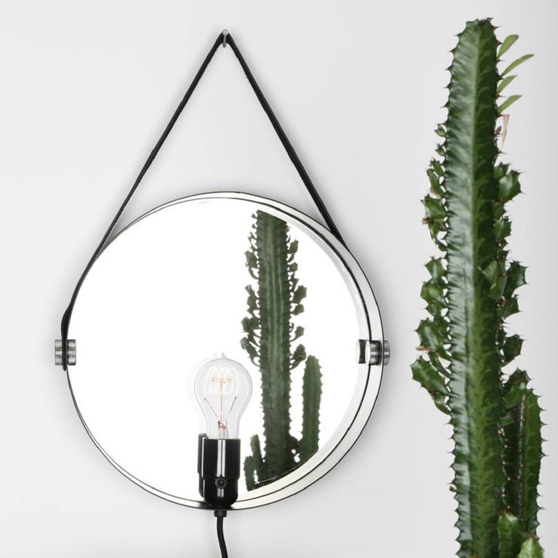 Applique miroir argent D35cm