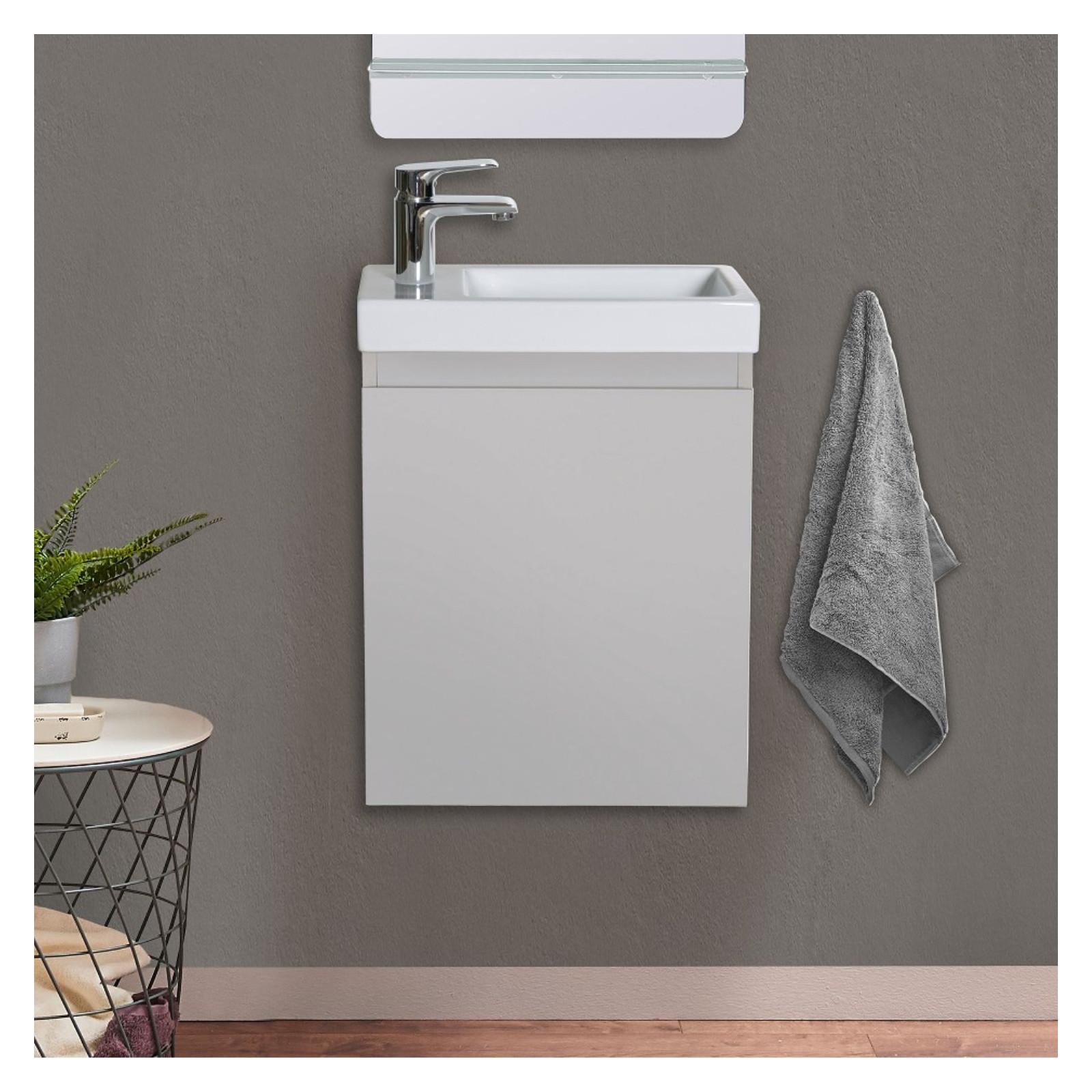 Meuble lave-mains Gris clair