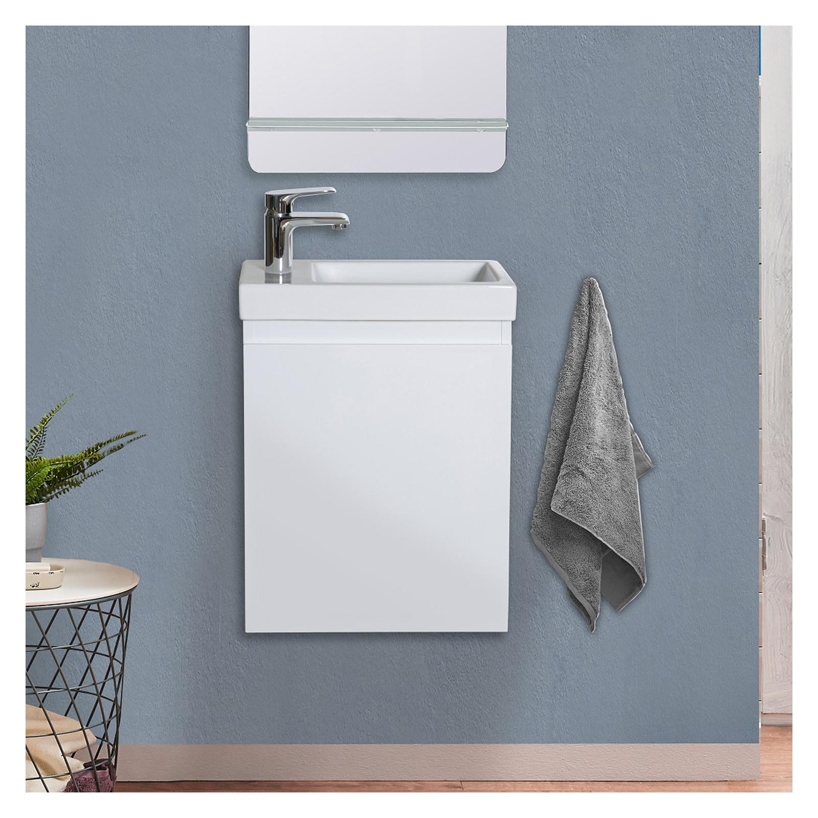 Meuble lave-mains Blanc
