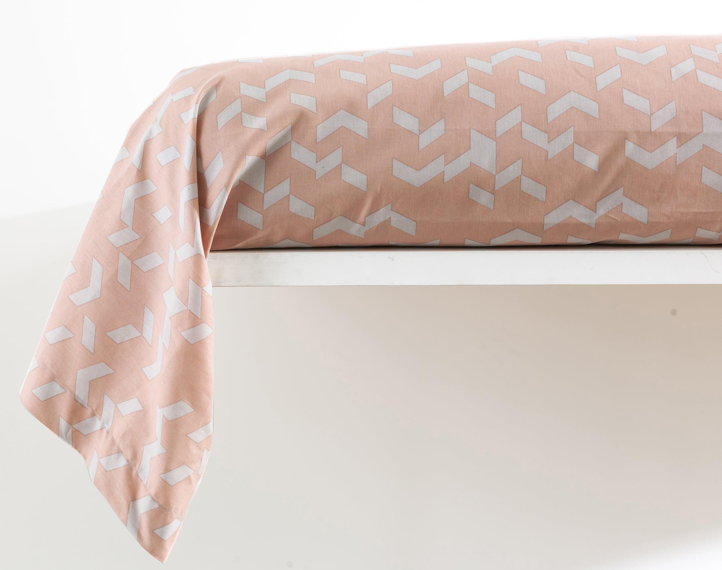 Taie de traversin 45x185 en coton rose