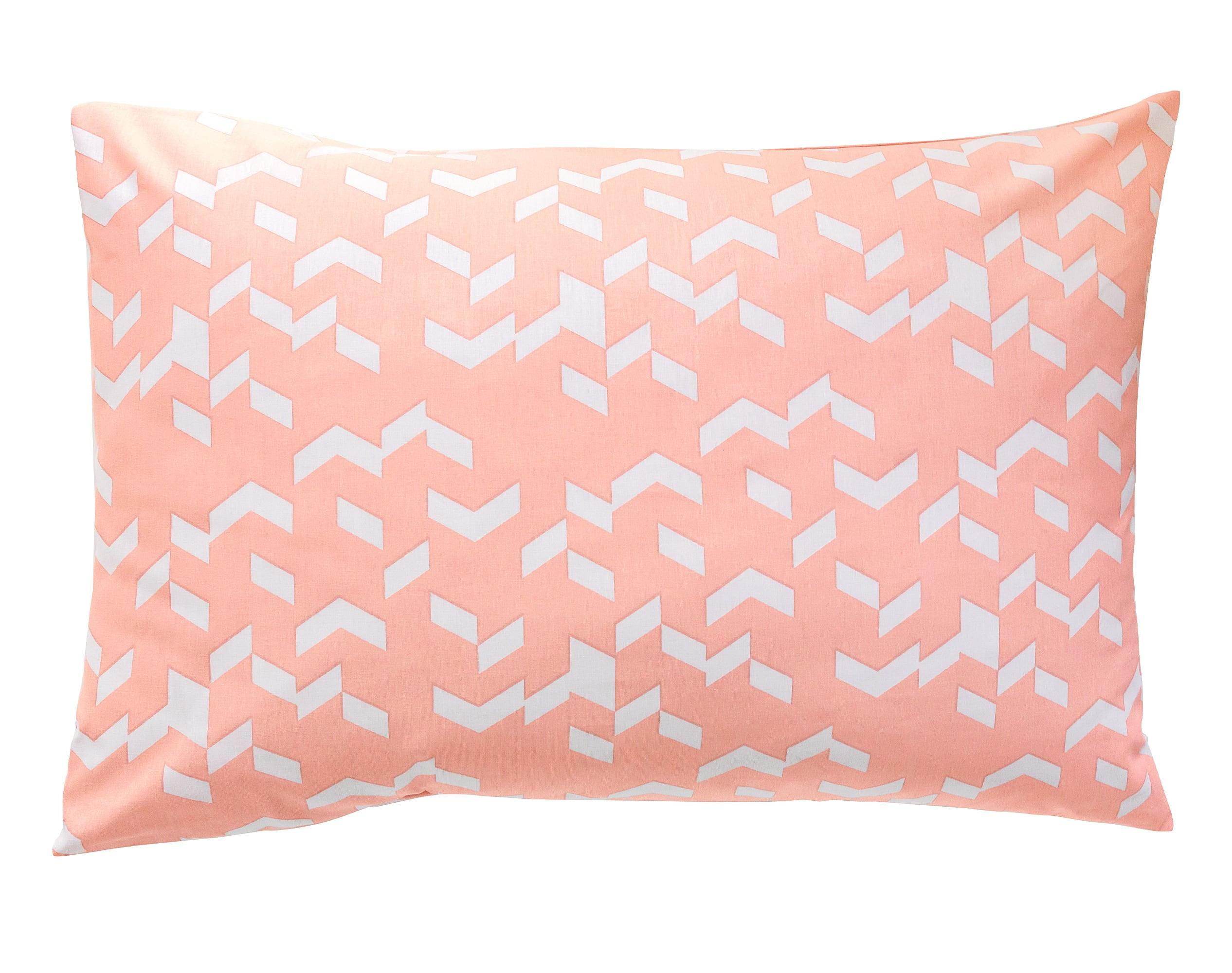 Taie d'oreiller 50x70 en coton rose