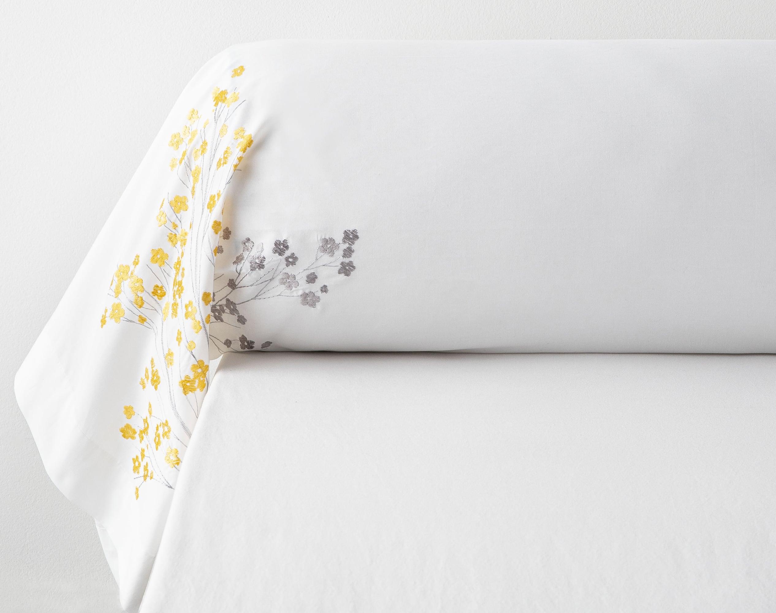 Taie de traversin 43x185 en percale de coton  blanc