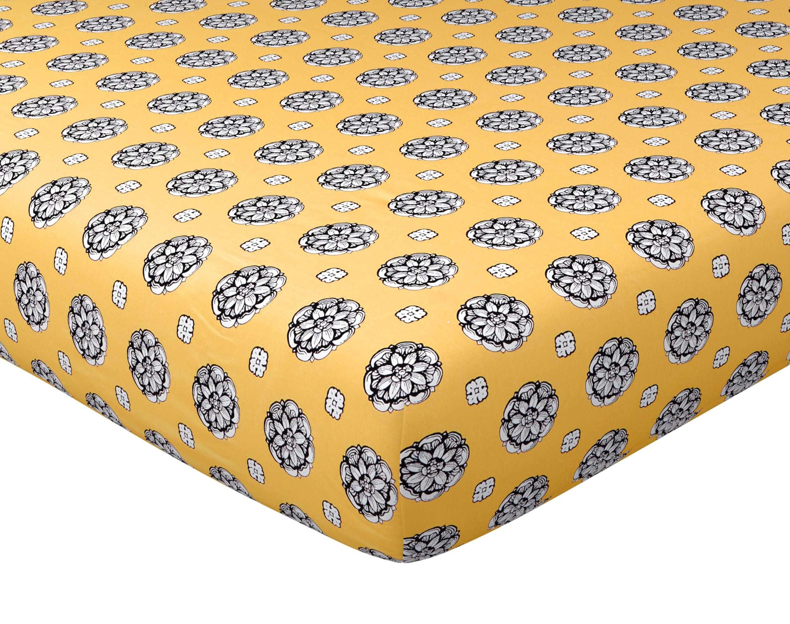 Drap-housse 140x190 en coton jaune
