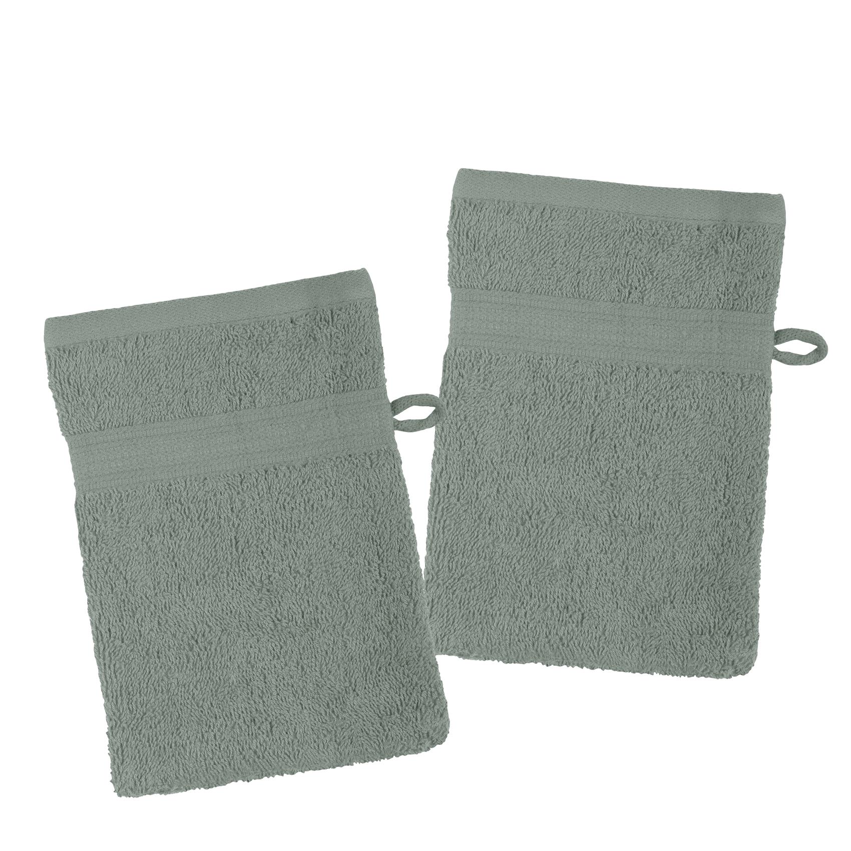 Lot de 2 gants de toilette en coton bio coton lichen 21x15