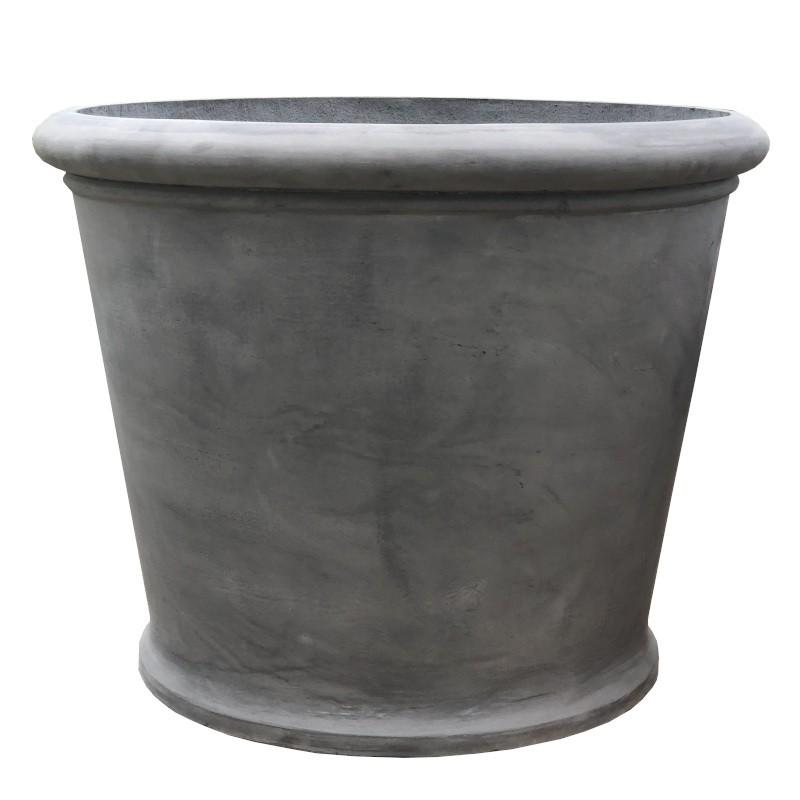 Gros pot rond gris en fonte D79cm