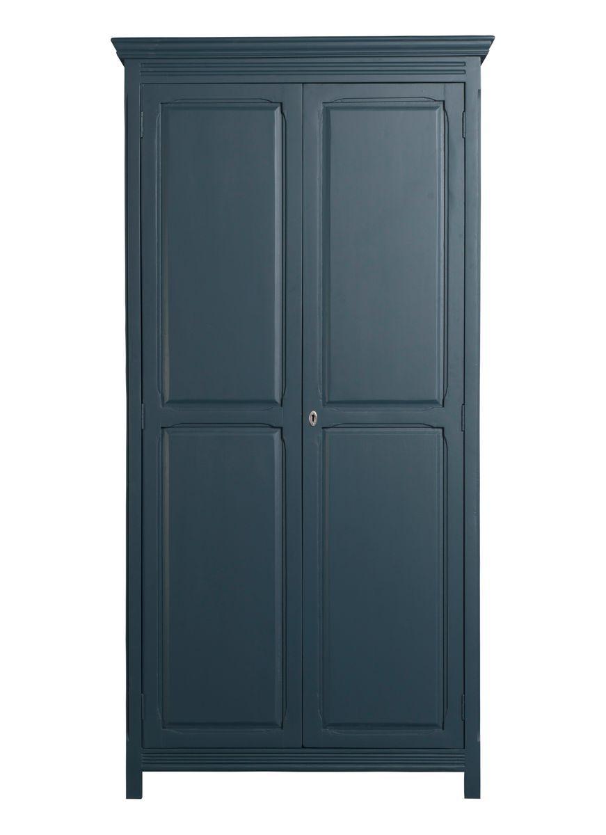 Armoire parisienne 2 portes bleu