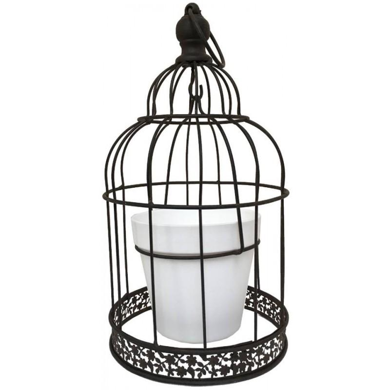 Cage à oiseaux oiseau porte plante fleur jardinière à suspendre e D18