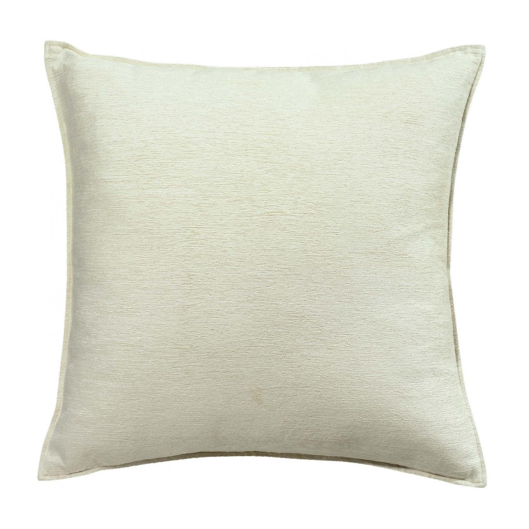 Coussin  en coton neige 60 x 60