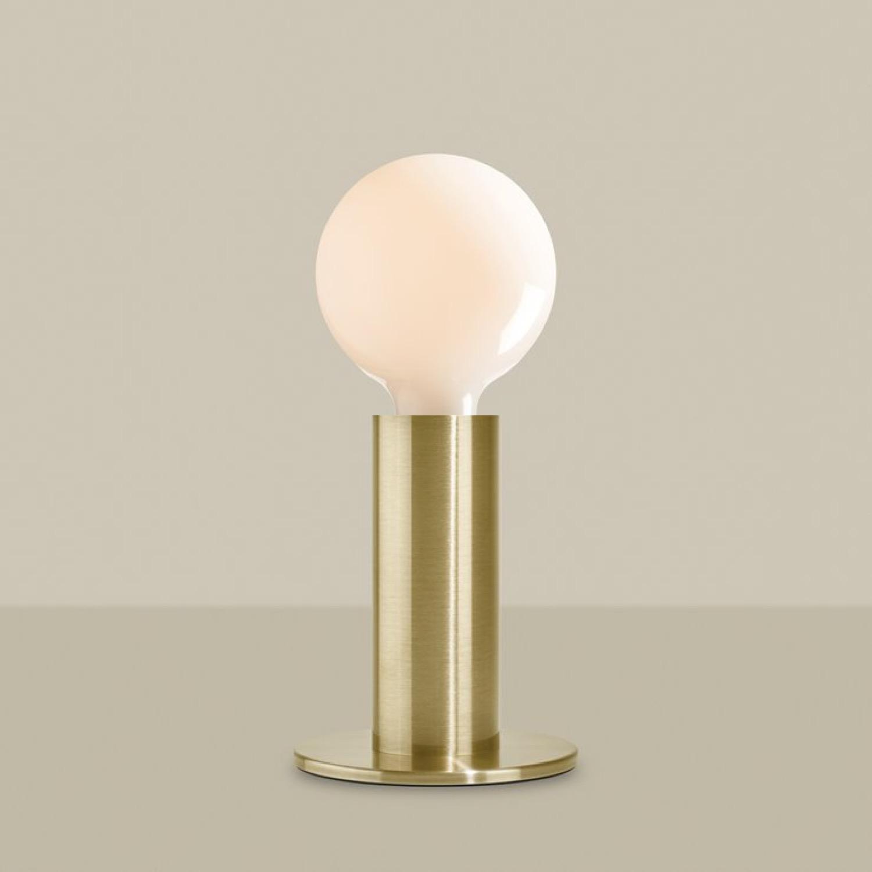 Lampe à poser variateur tactile ampoule LED globe opaque métal H24,5