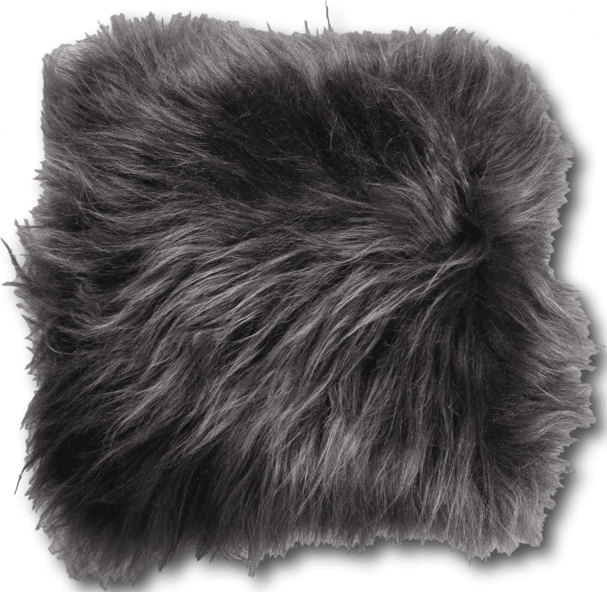 Coussin peau de mouton gris 35x35