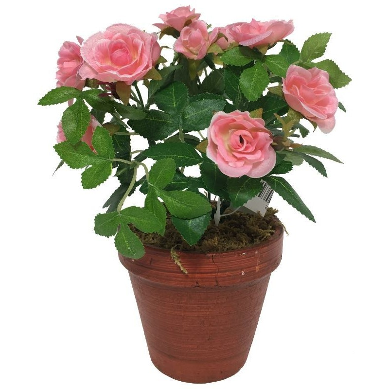 Grand rosier artificiel rose