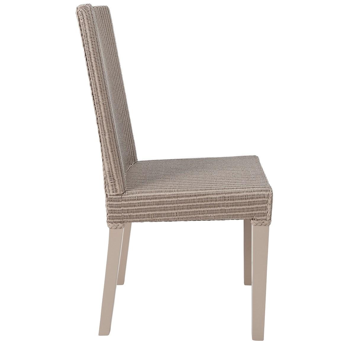 Chaise en Lloyd Loom gris souris
