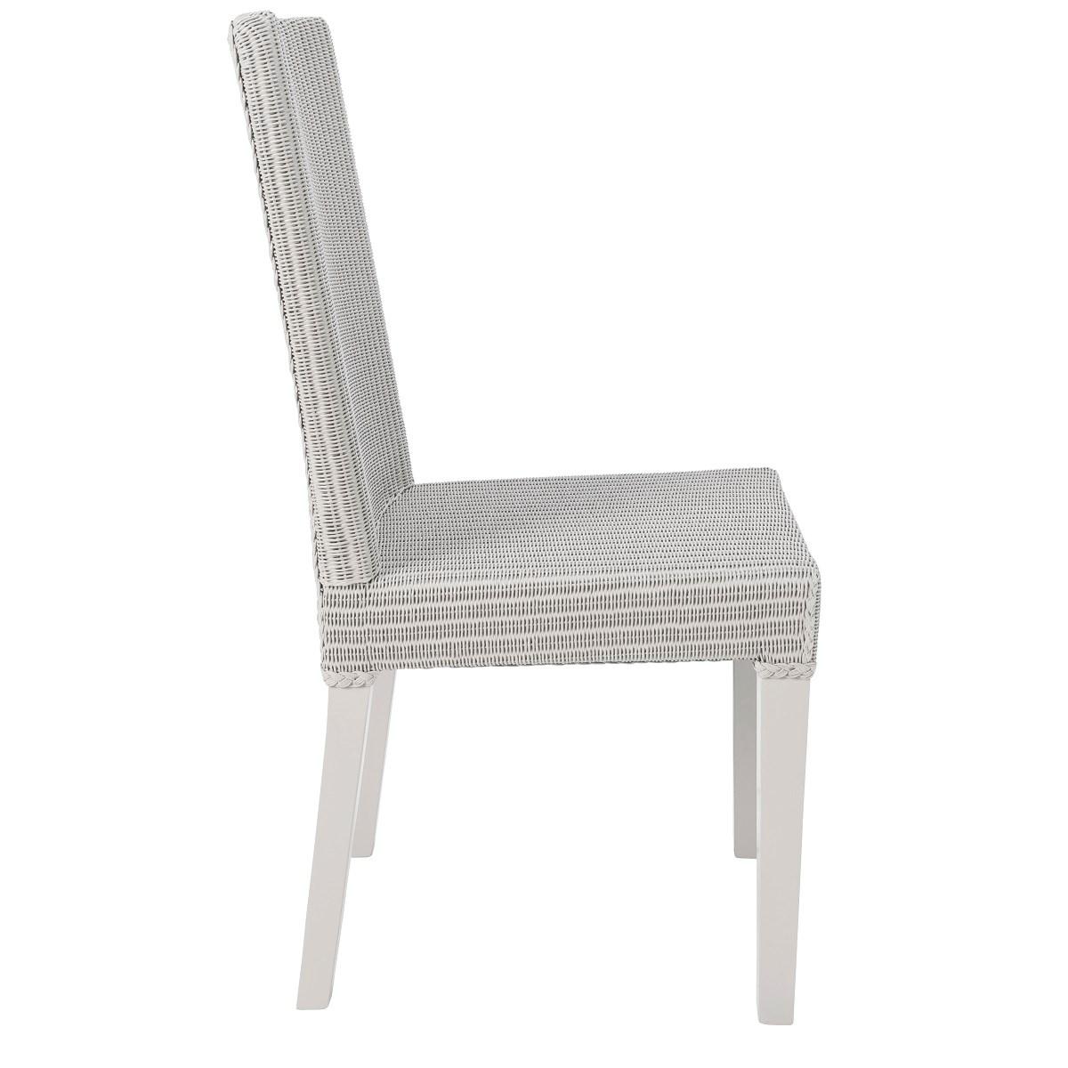 Chaise en Lloyd Loom gris clair