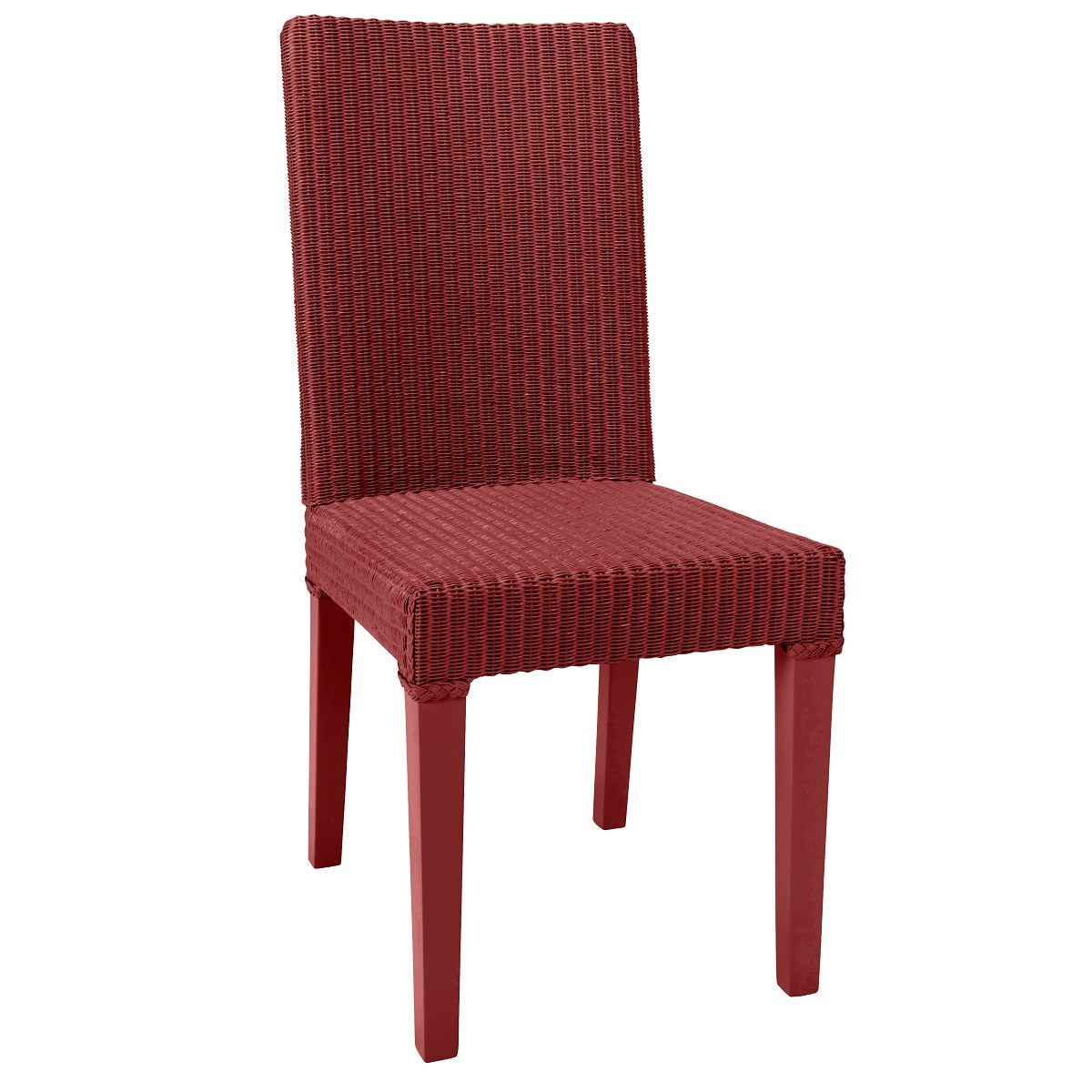 Chaise en Lloyd Loom rouge