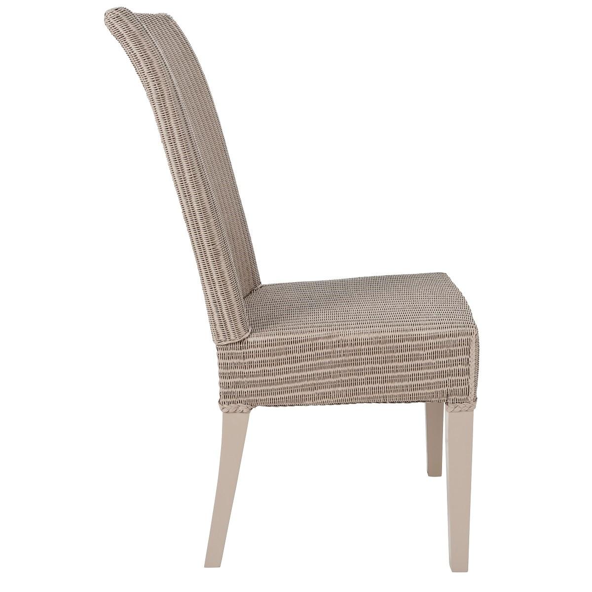 Chaise en Lloyd Loom laqué gris