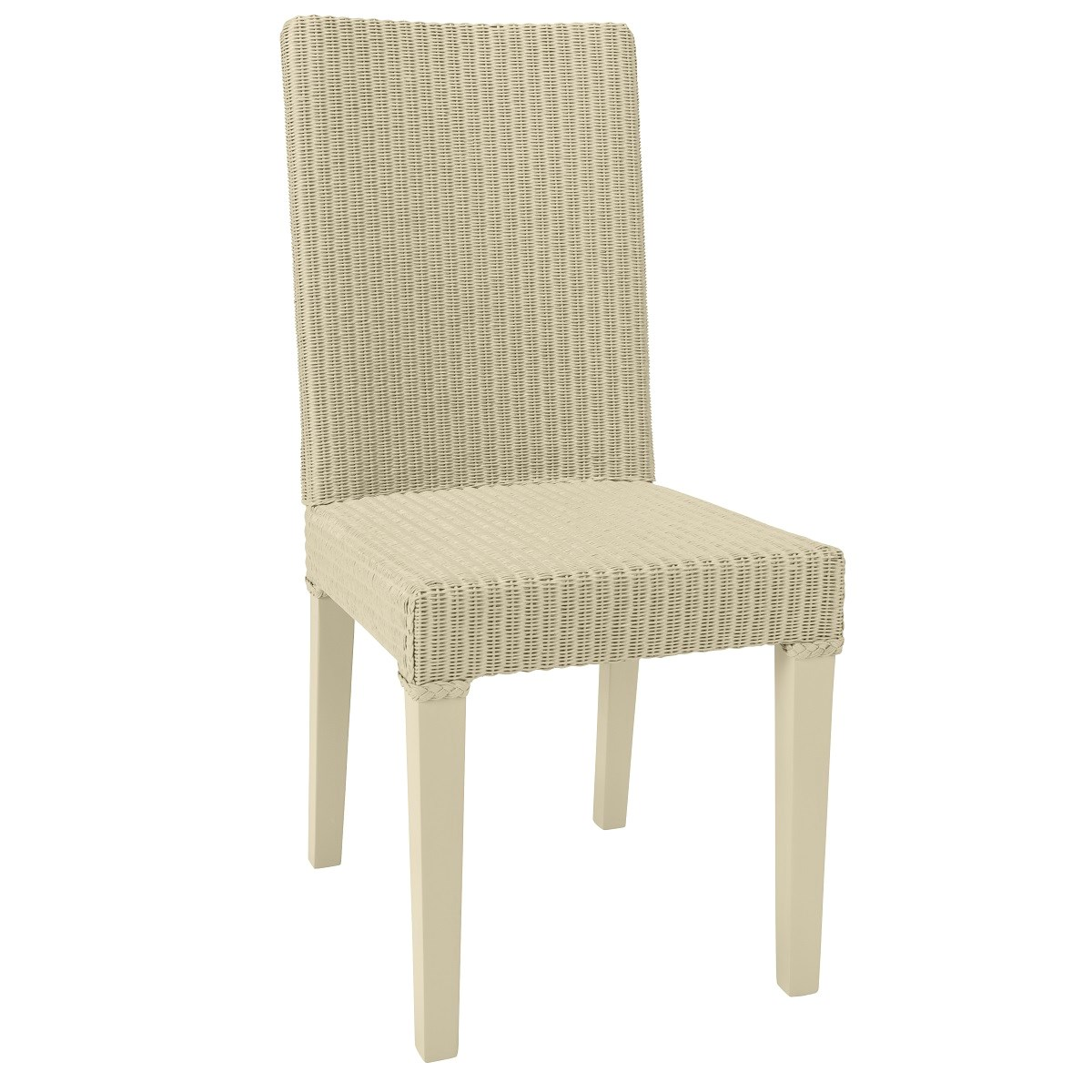 Chaise en Lloyd Loom beige clair