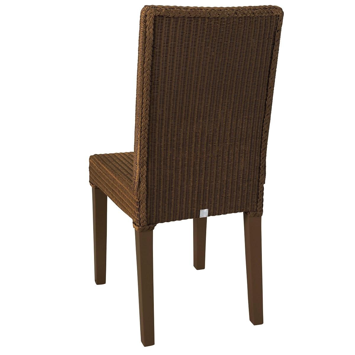 Chaise en Lloyd Loom cuivre