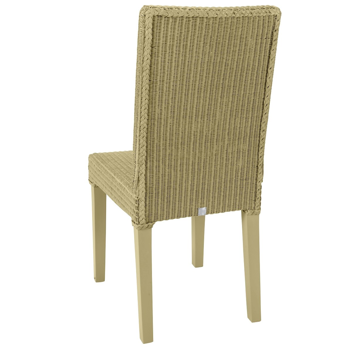 Chaise en Lloyd Loom jaune paille