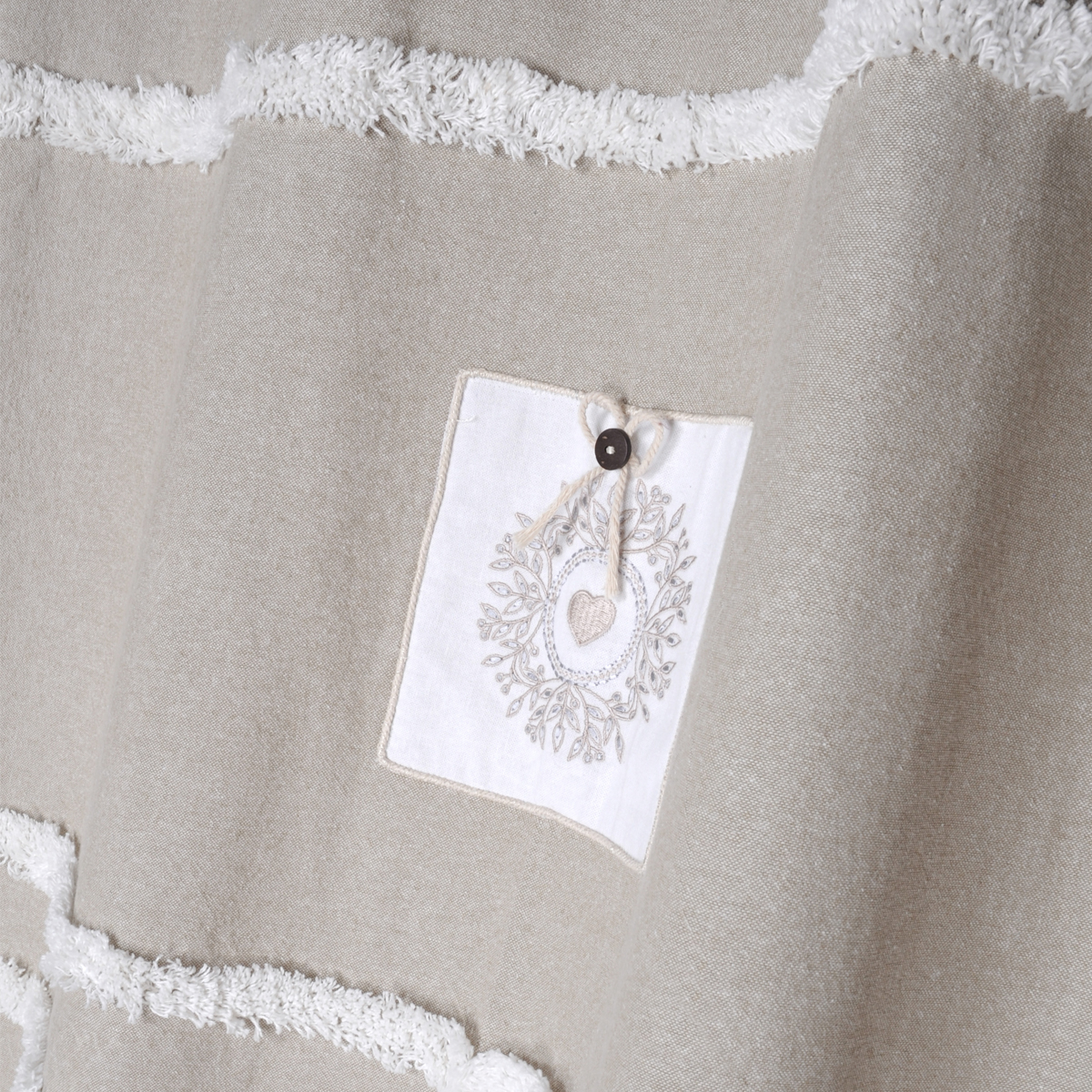 Rideau tamisant campagne chic coton lin 260x140