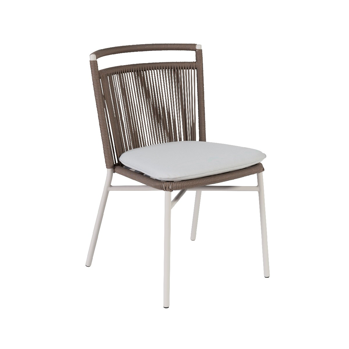Chaise de jardin en corde tabac