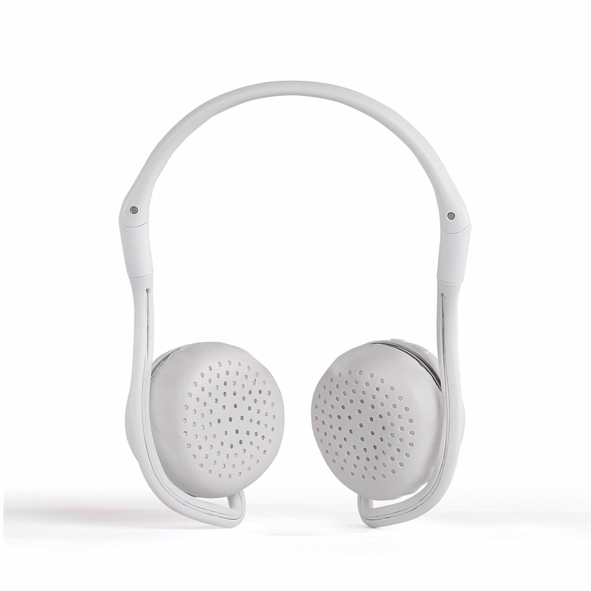 Casque sport compatible Bluetooth® en plastique blanc