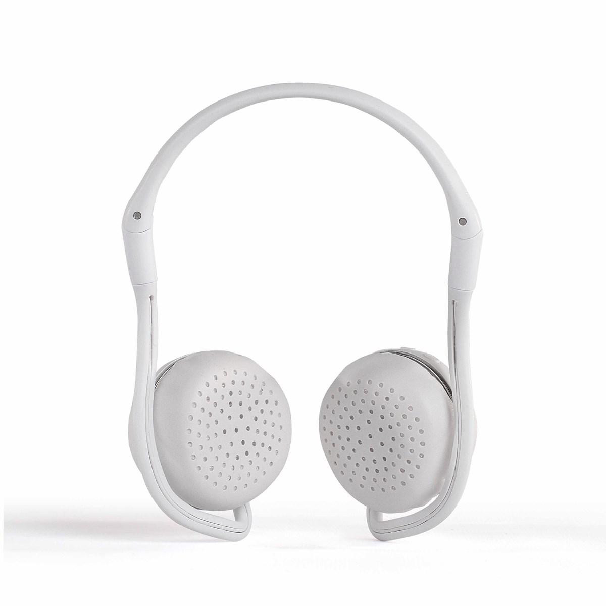 Casque sport compatible Bluetooth en plastique blanc