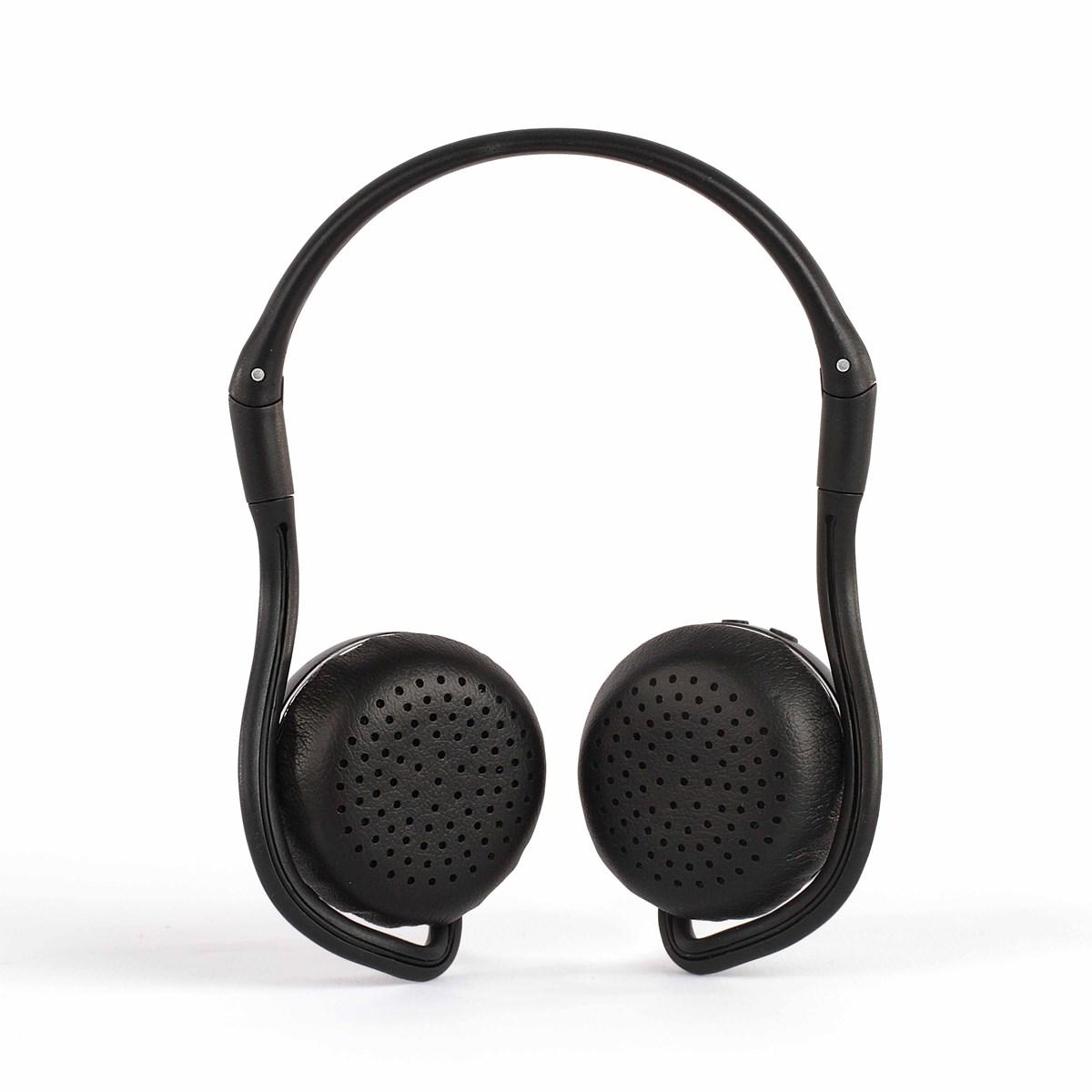 Casque sport compatible Bluetooth en plastique noir