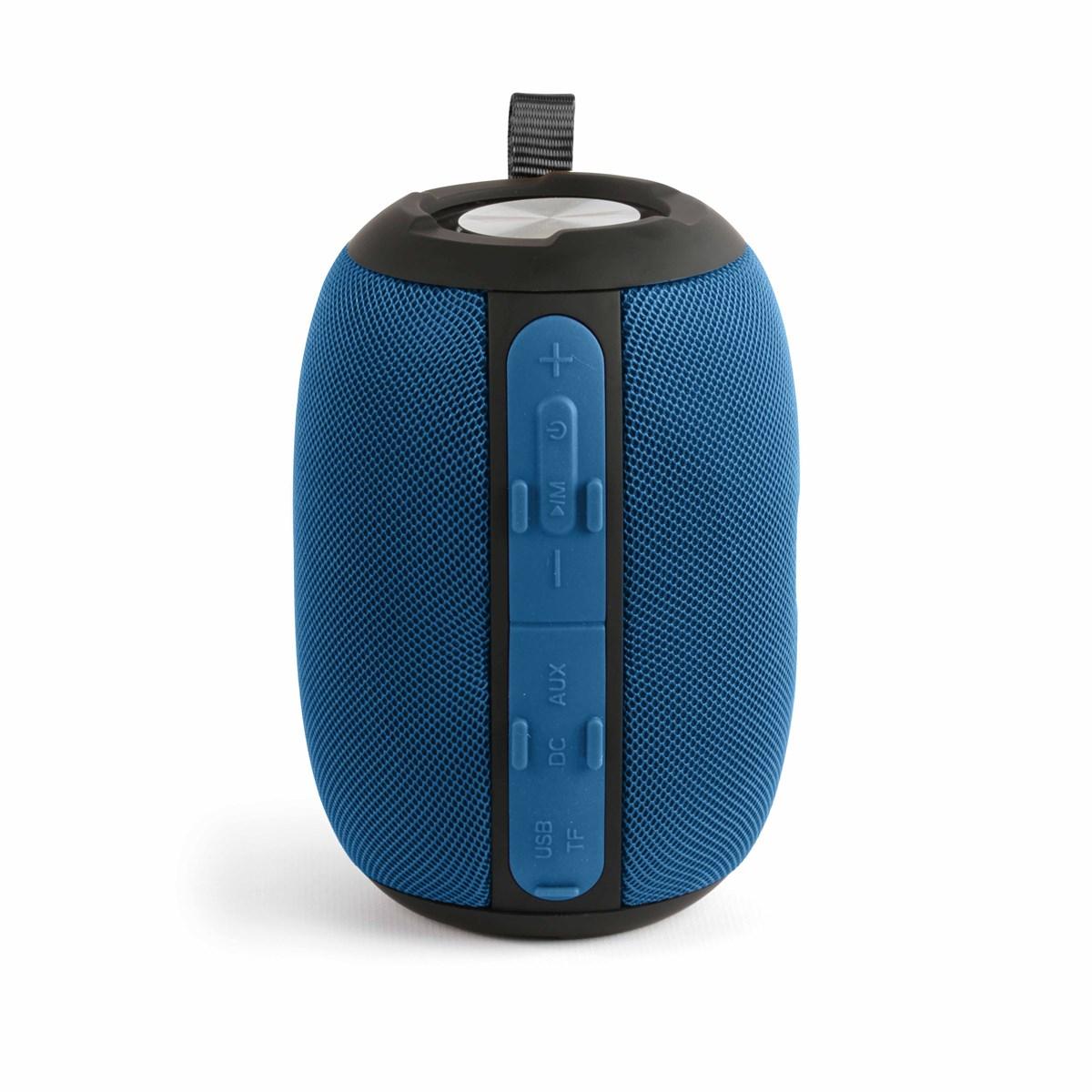 Livoo Haut-parleur compatible Bluetooth en Plastique Bleu