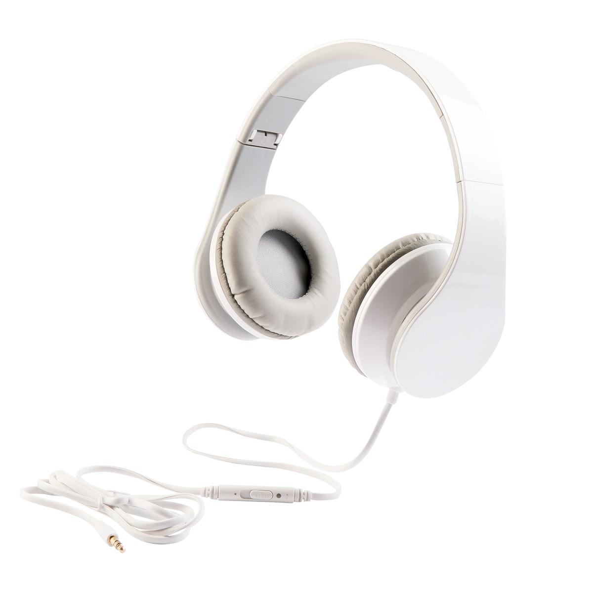 Casque stéréo Hi-Fi en plastique blanc