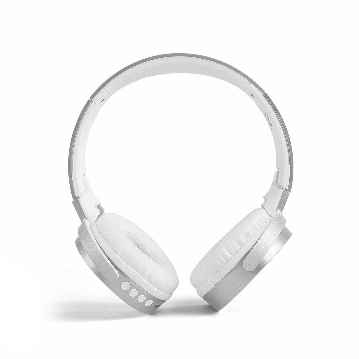 Casque compatible Bluetooth en plastique argent