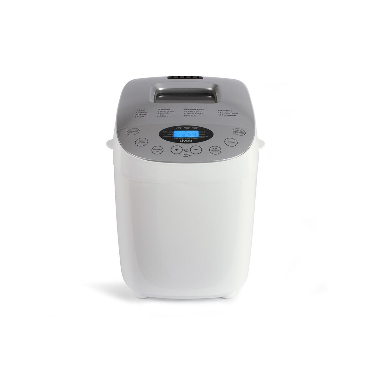 Livoo Machine à Pain Fait Maison en Métal Blanc