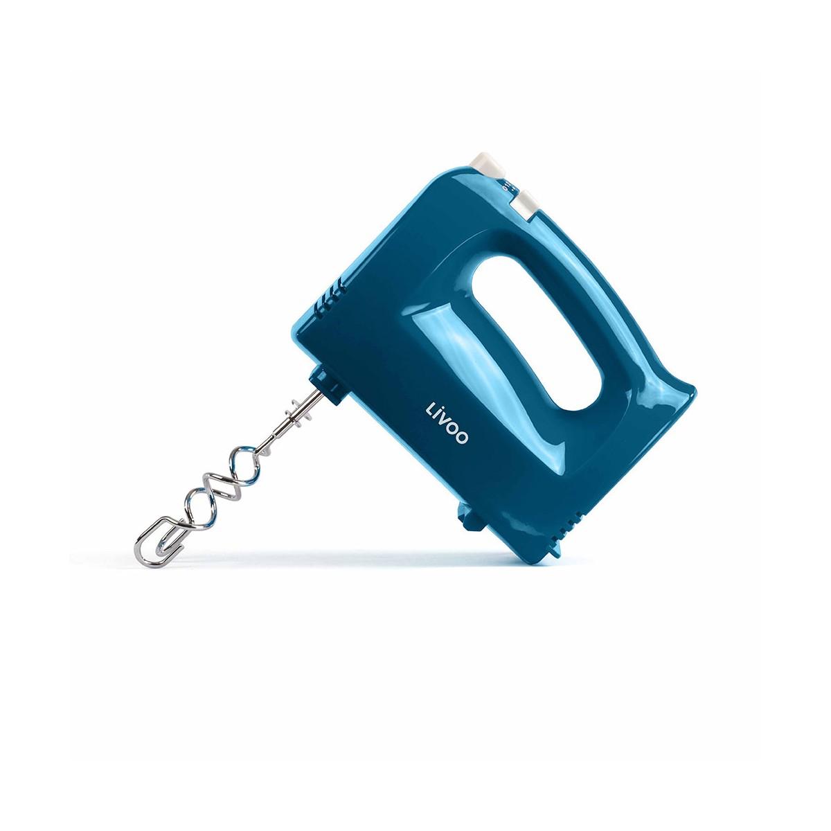 Batteur électrique en plastique bleu