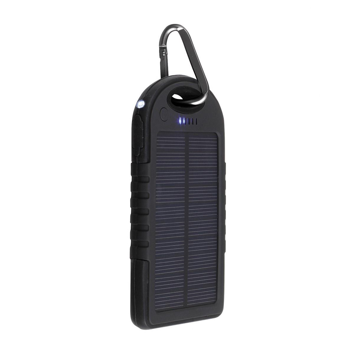 Batterie de secours solaire en plastique noir