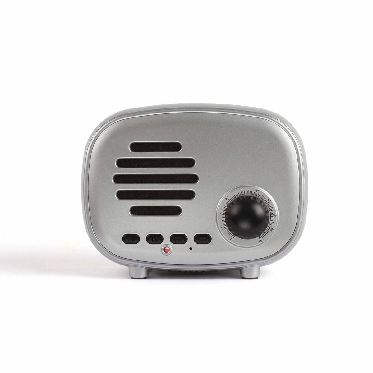 Livoo Haut-parleur compatible Bluetooth en Plastique Argent