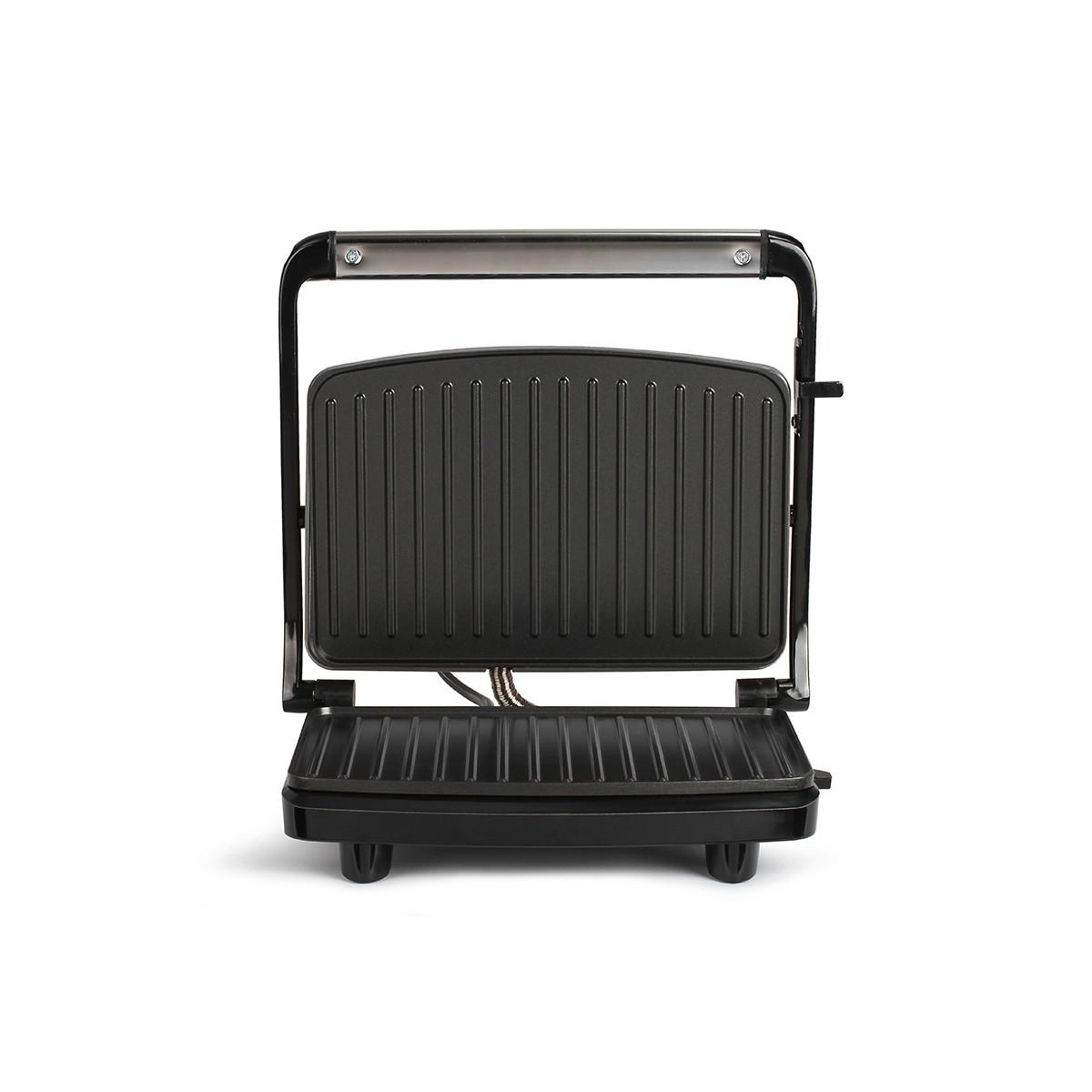 Compact grill en aluminium gris