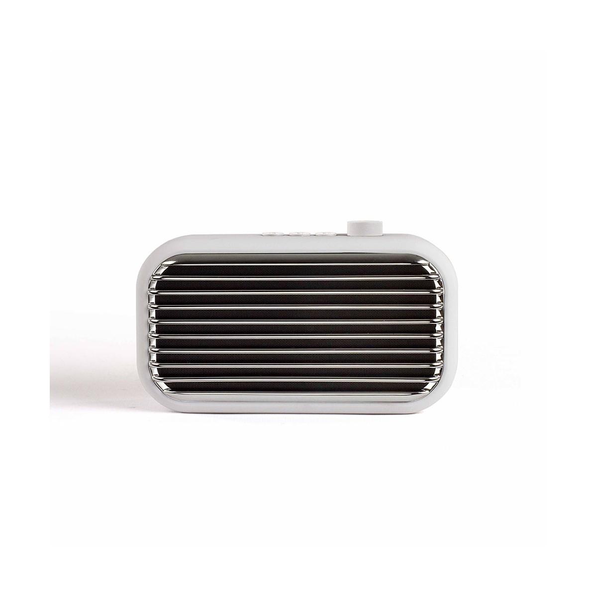 Livoo Haut-parleur compatible Bluetooth en Plastique Blanc