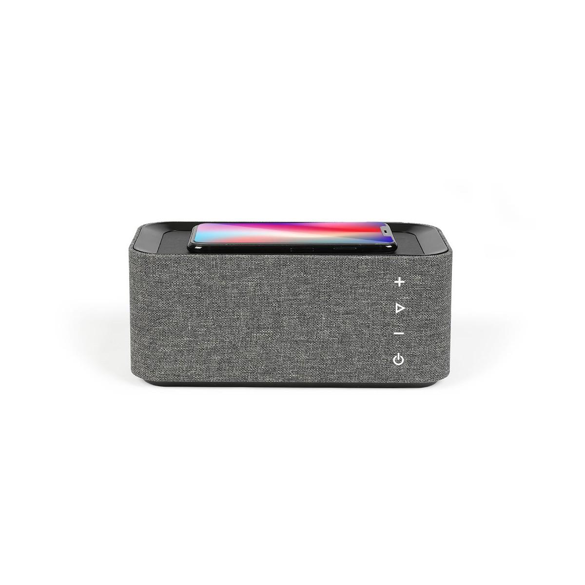 Enceinte chargeur sans fil fast charge en ABS Gris