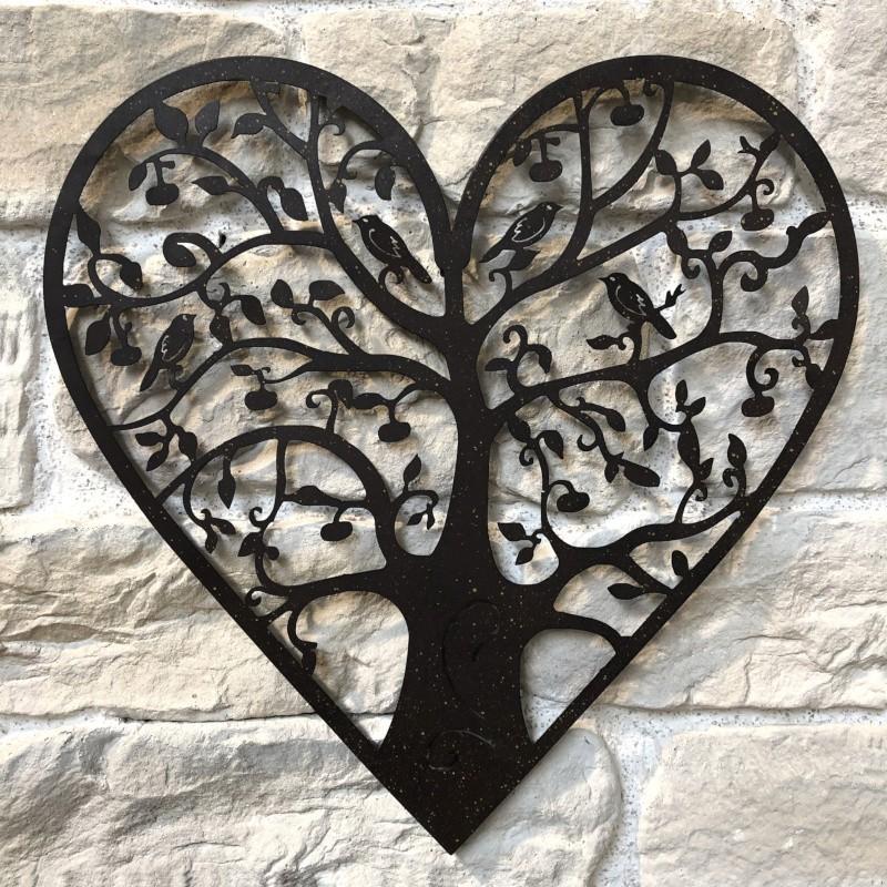 Applique murale arbre en métal marron