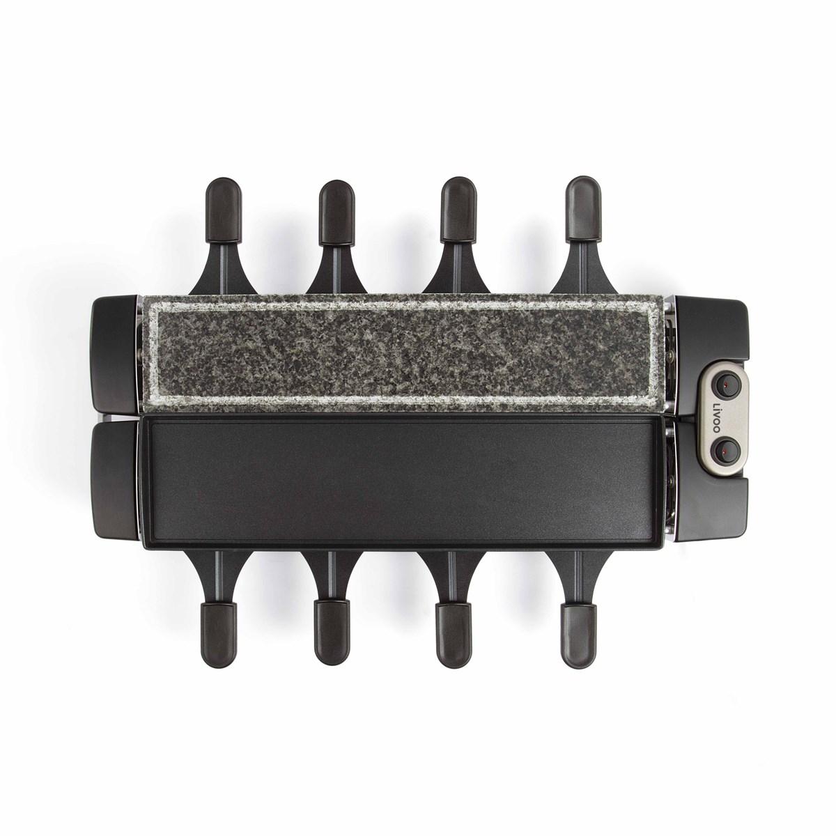 Appareil à raclette et gril modulable en aluminium noir