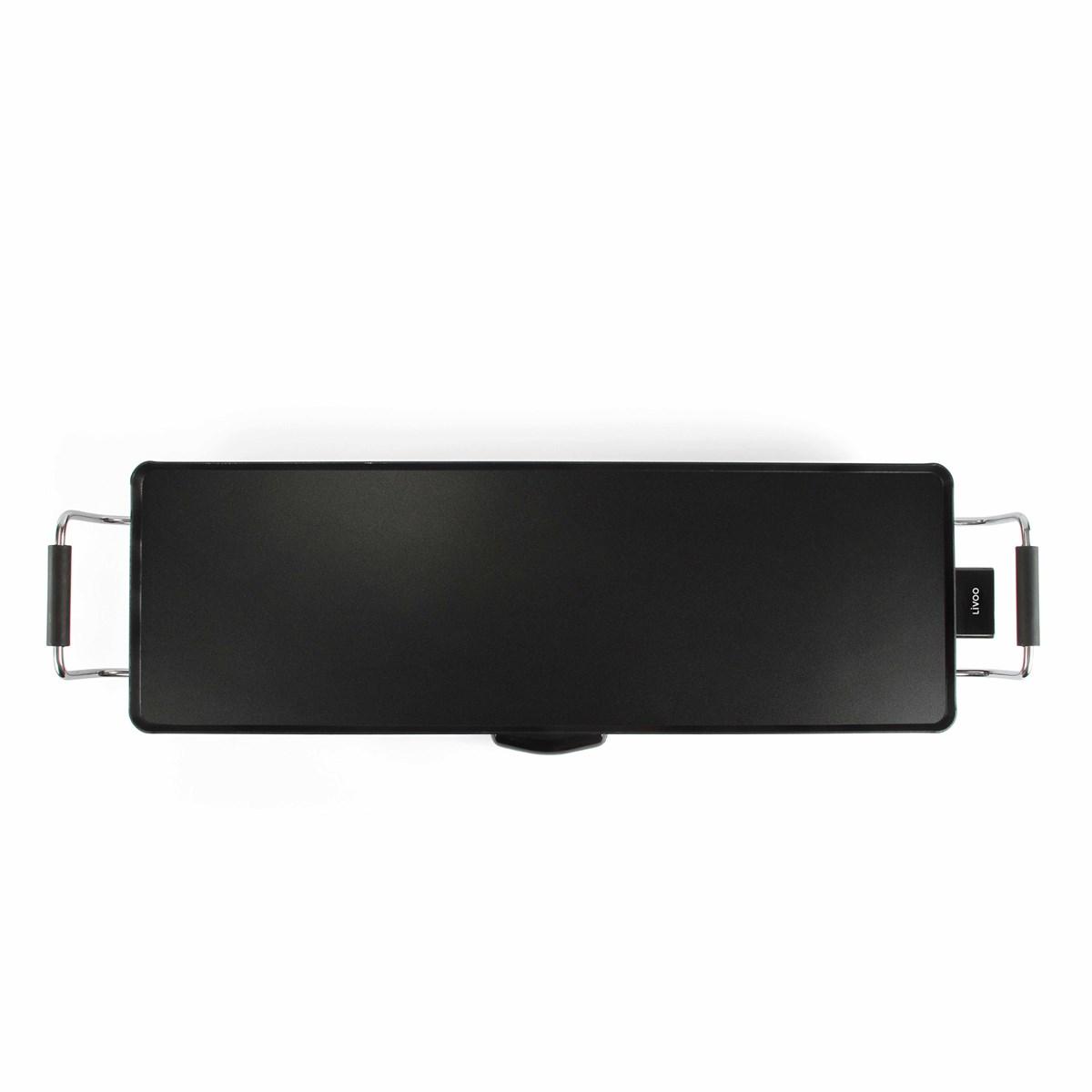 Plancha Teppan Yaki grill 90 cm en métal noir