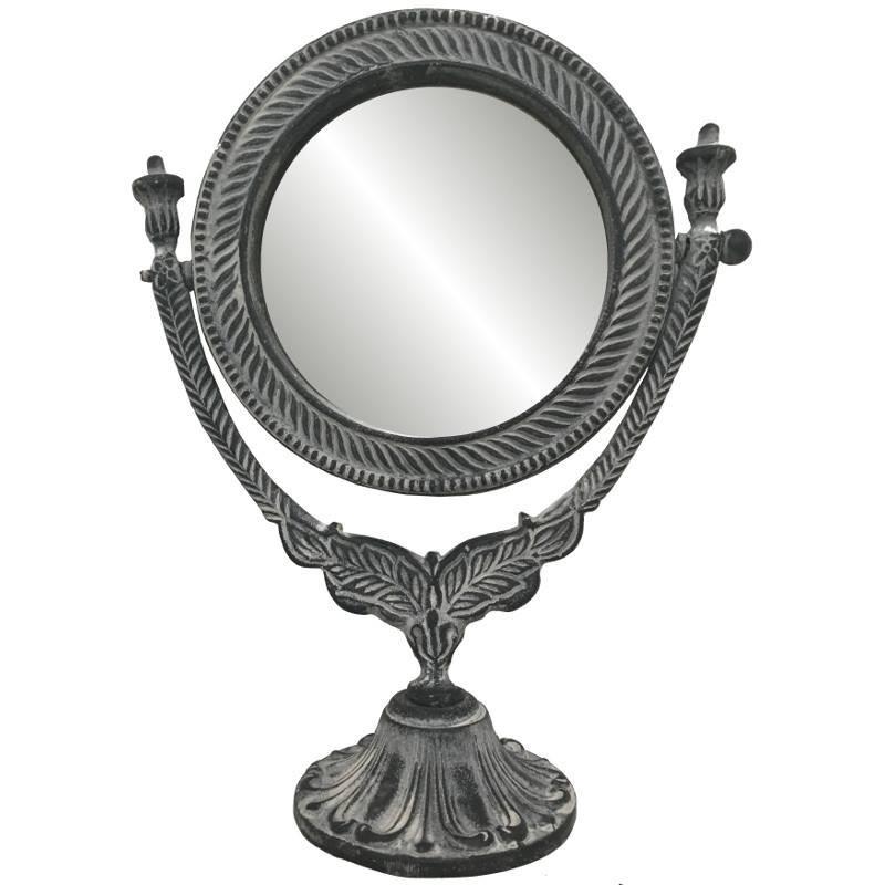 Miroir à poser en fonte d'aluminium 30x23