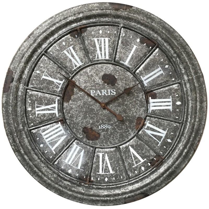 Horloge industrielle en métal D61