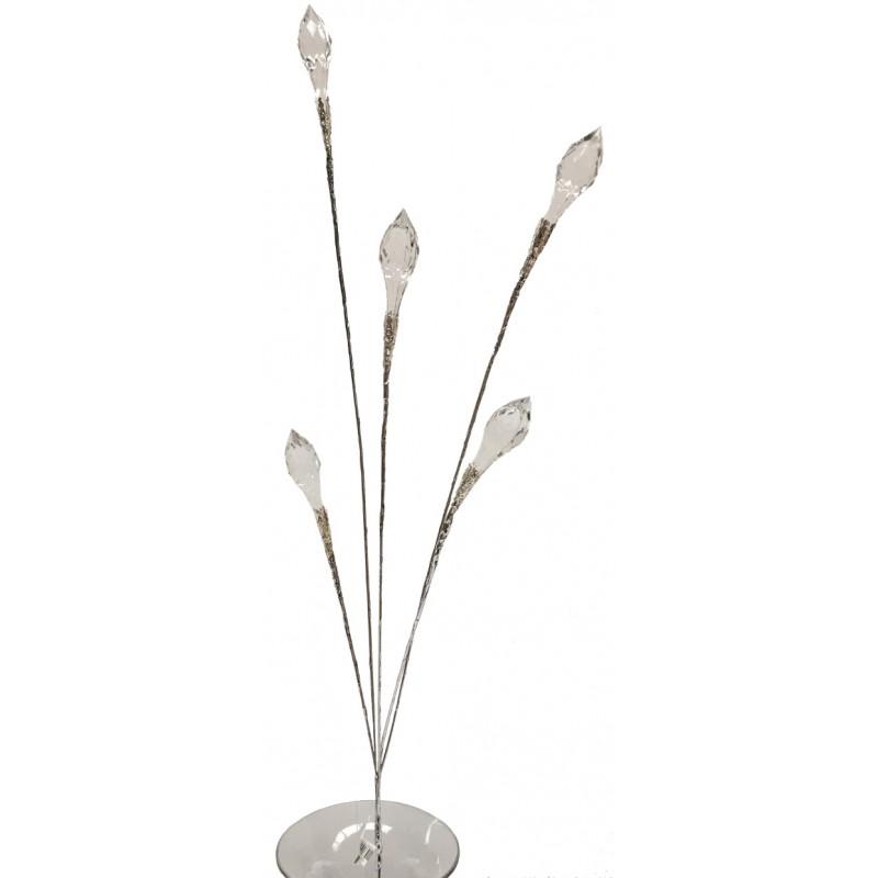 Branche de fleur façon cristal blanc