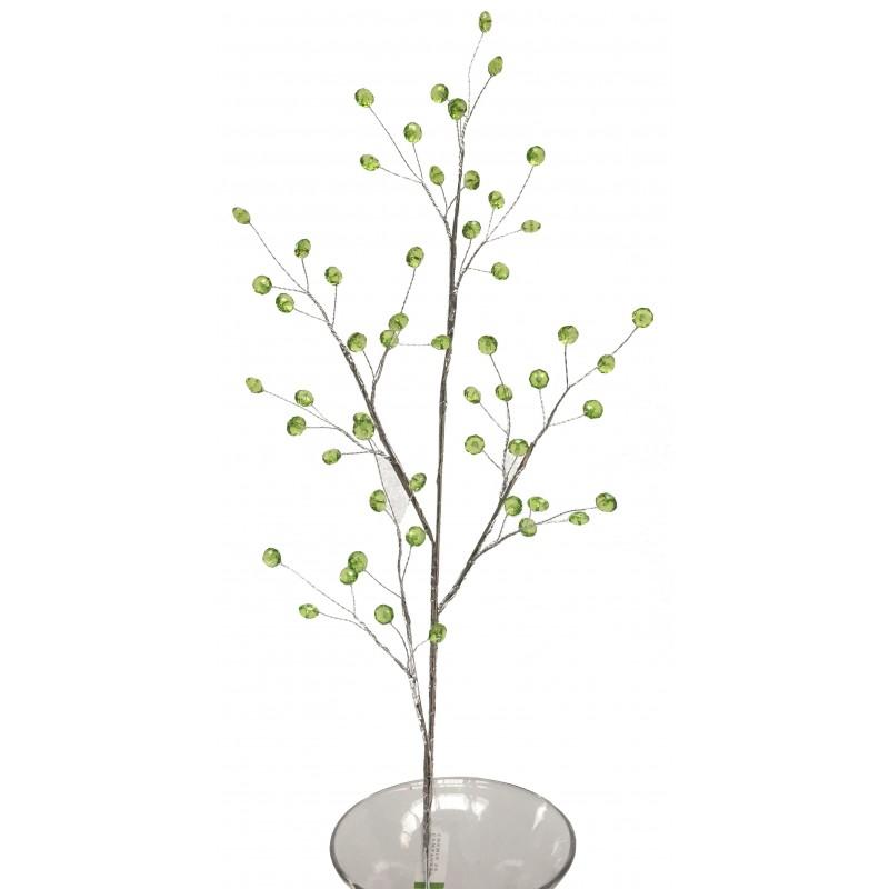 Branche de fleur façon cristal vert