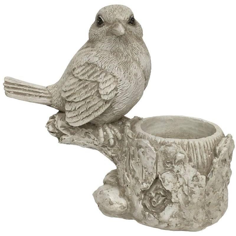 Bougeoir de table oiseau blanc