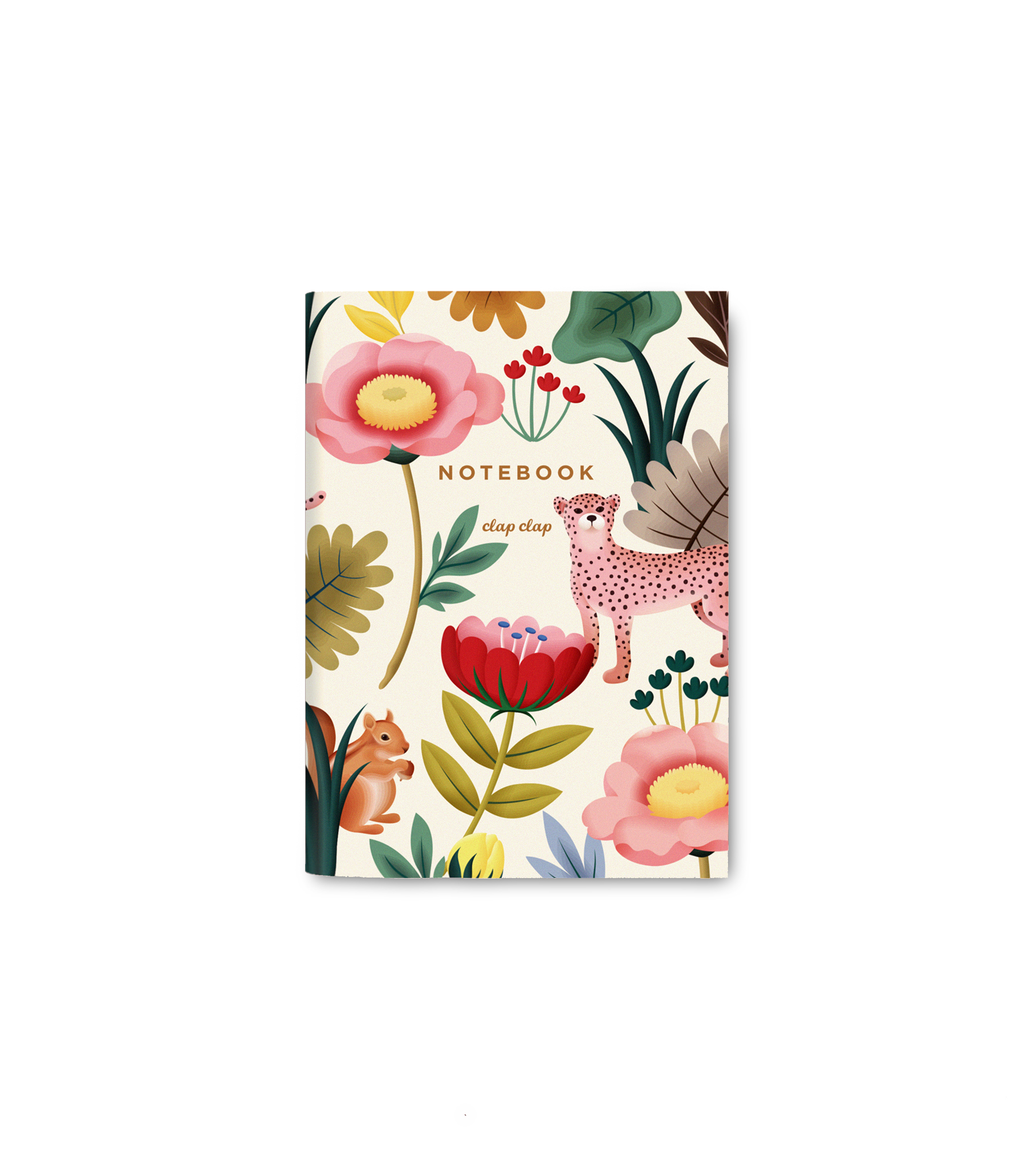 Pocket notebook animal kingdom cream