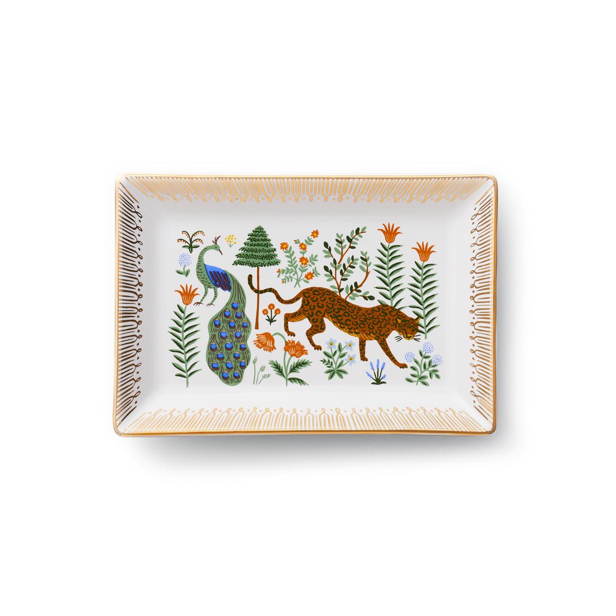 Vide-poche en porcelaine jaguar