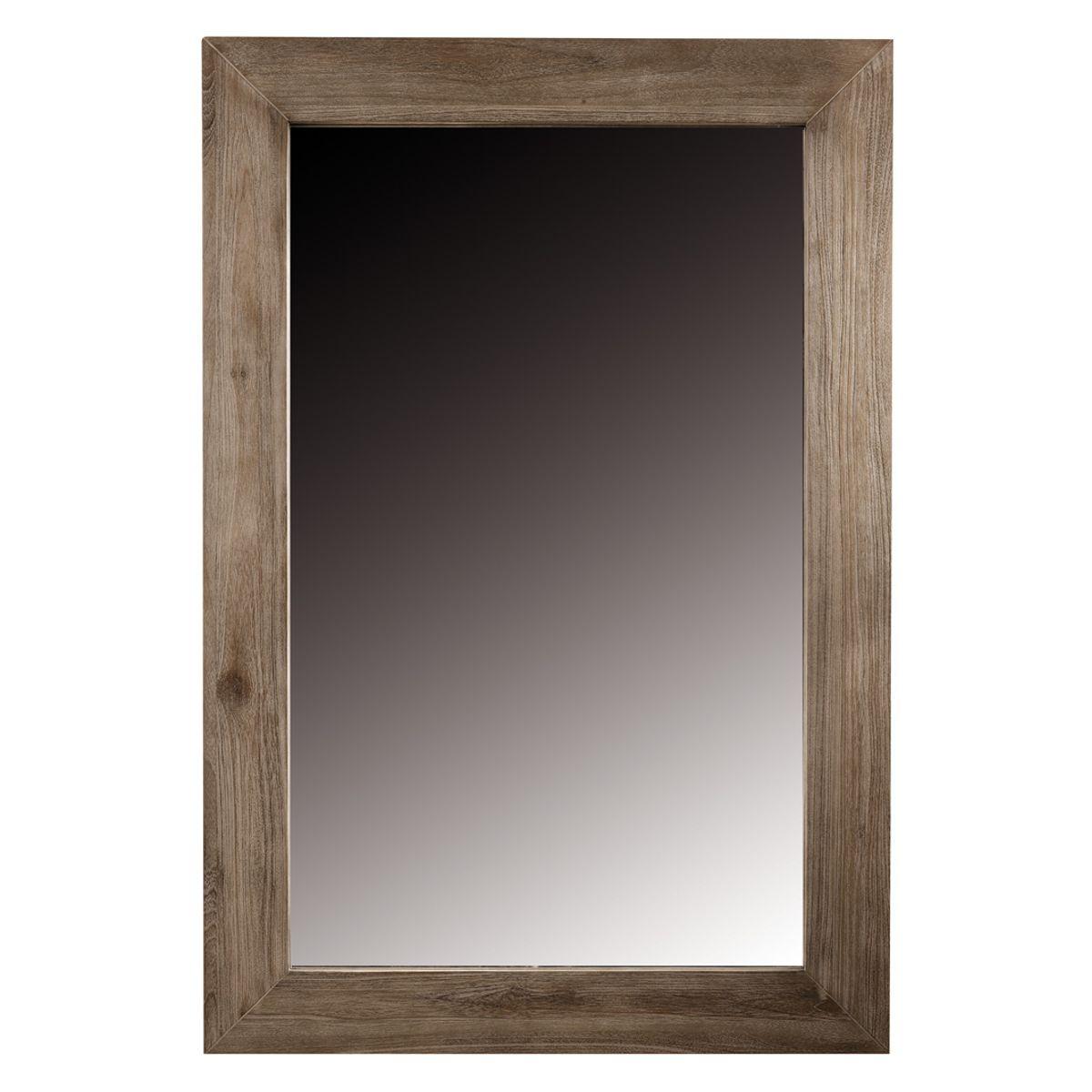 Miroir teck naturel teinté 120 x 80 cm
