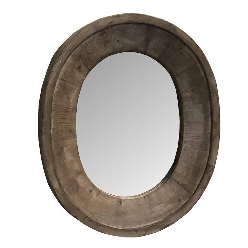Miroir avec tablette en métal 80x50
