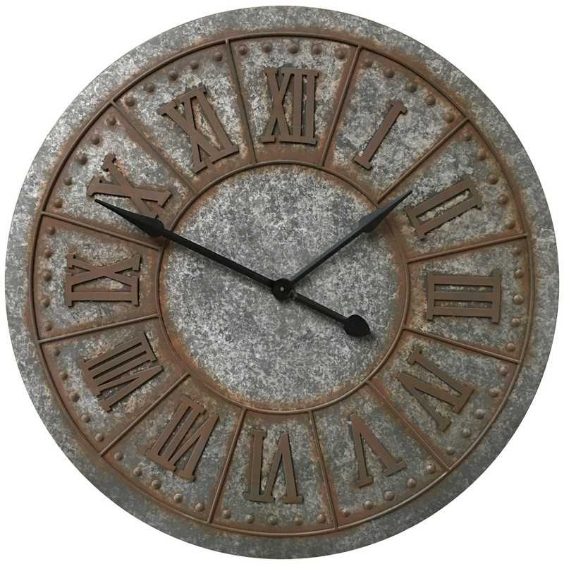 Horloge industrielle en métal fer D90